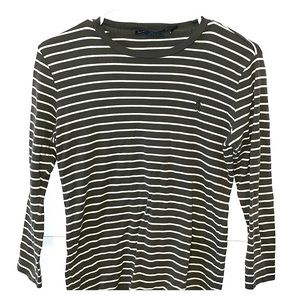 Green and White Striped Ralph Lauren Top